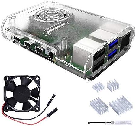 Owootecc Raspberry Pi 4 Gehäuse Raspberry Pi Gehäuse Computer Zubehör