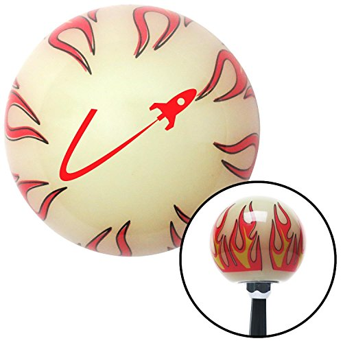 American Shifter Company ASCSNX1537737 Red Space Ship In Flight Ivory Flame Shift Knob with M16 x 1.5 Insert project