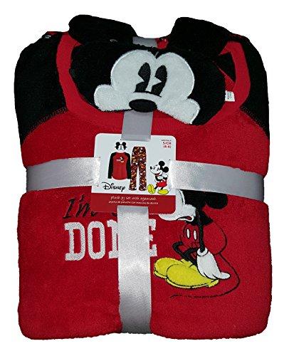 Mouse Eyemask Plush (Disney Mickey Mouse Plush Pajama Sleep Set w/ Eyemask -)