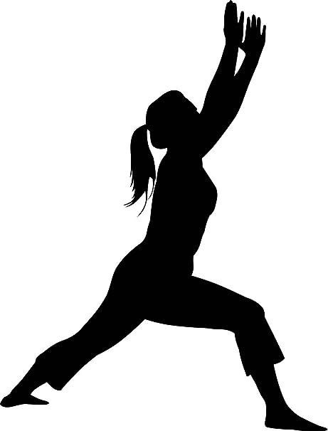 Amazon.com: Yoga Silueta – Calcomanías de pared Yoga Warrior ...