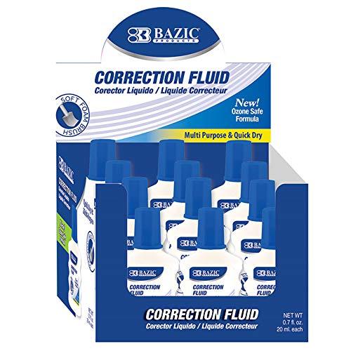 New 401499 20 Ml / 0.7 Fl. Oz. Correction Fluid W/Foam Brush (12-Pack) Correction Cheap Wholesale Discount Bulk Stationery Correction Liquid