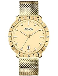 Bulova 97B129 Men's Watchs BA11 Gold Steel Bracelet Watch