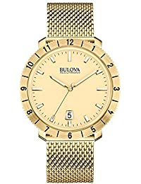 Bulova 97B129 Mens Watchs BA11 Gold Steel Bracelet Watch