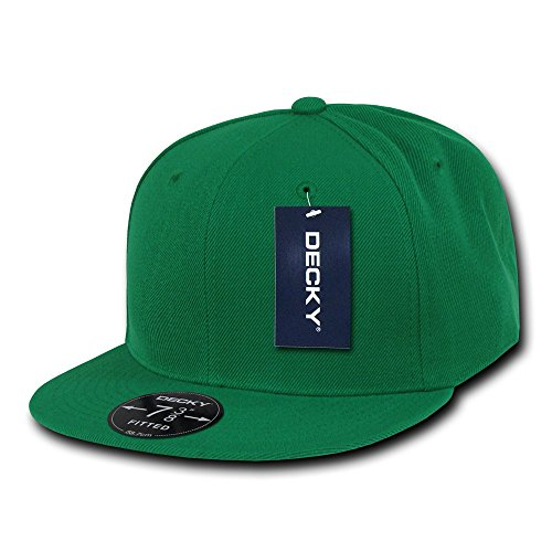 DECKY Retro Fitted Cap, Kelly Green, 7 5/8 ()