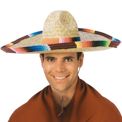 Rubie's Costume Sombrero with Rainbow Serape Edge And Band,
