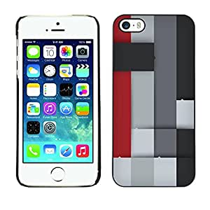 LECELL -- Funda protectora / Cubierta / Piel For Apple iPhone 5 / 5S -- Colorful Block --