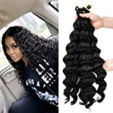 20inch deep wave braiding hair Extensions Ombre bohemian Crochet Braids 6piece/lot Synthetic deep twist crochet hair