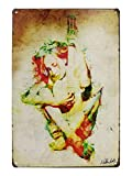 VASTING ART Decorative Signs Tin Metal Iron Sign Painting Instrument Girl Back For Wall Home Office Bar Coffee Shop