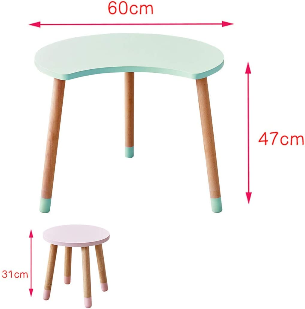 NMDD Children'S Study Table,Premium Wood Table,Sturdily Built Kids Table That'S Great In Preschools Home Schools Playrooms And Boys And Girls Bedrooms White Stool