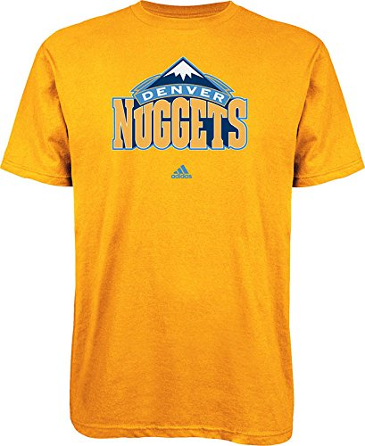 NBA Denver Nuggets Primary Logo T-Shirt, Small, Gold Adidas Denver Nuggets Primary