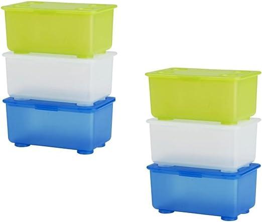 6 x IKEA GLIS pequeñas cajas de almacenamiento de plástico con ...