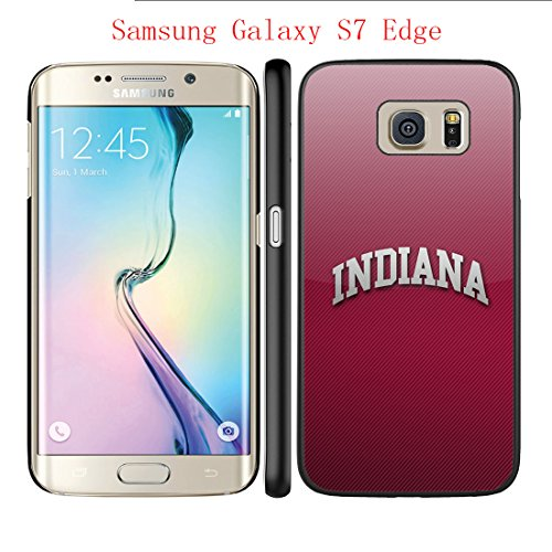 Samsung Galaxy S7 Edge Case Indiana Hoosiers 8 Drop Protection Never Fade Anti Slip Scratchproof Black Hard Plastic Case 5.5 inch