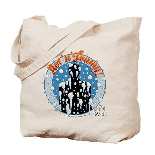 CafePress–Frasier: Hot und aufgeschäumte–Leinwand Natur Tasche, Reinigungstuch Einkaufstasche