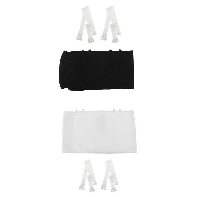 MagiDeal Sujetador Camisa Sin Tirantes Mujeres Algodón Sin Respaldo Envuelto Corsé Ropa Interior Tank Crop Top - Blanco negro, SG: Amazon.es: Ropa y ...