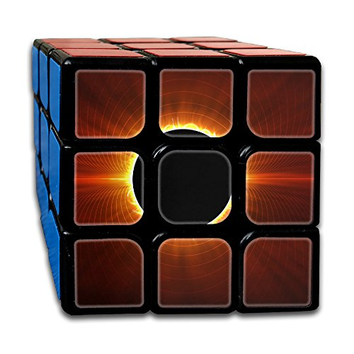 Price comparison product image HZamora_H Total Solar Eclipse 2017 3X3 Magic Speed Cube Logical Fun Best Puzzle Toy For Adults & Kids Holiday Gift
