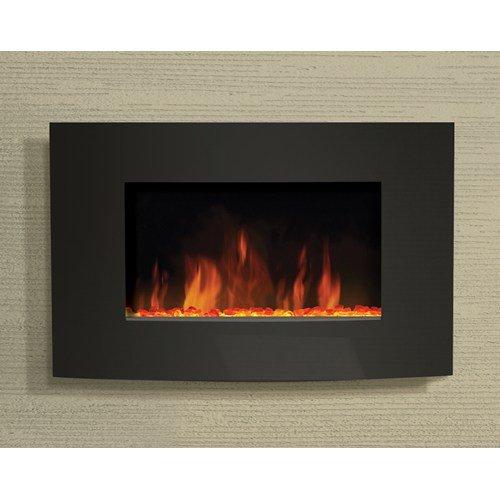 "Amantii Wall Mount 35"" x 22"" Convex Front Electric Fireplace - WM-3522CF Uncategorized"
