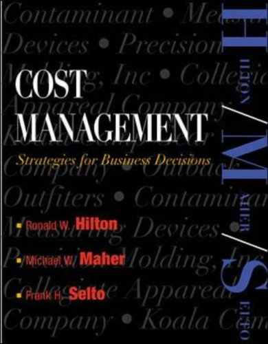 cost management strategies for business decisions test bank Cost management a strategic emphasis 7th edition edward blocher testbank  author name, edward blocher isbn 10, 0077733770 isbn 13, 978-.
