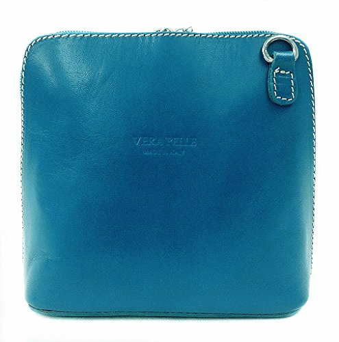 sac bandoulière Benagio cuir main turquoise en véritable la ou à à italien AEEdw4q