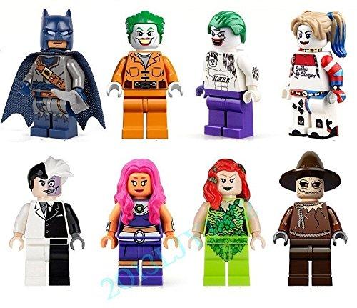 Harley Quinn Hairstyle (Shalleen 9 Set Captain America Hulk man Thor man Super Figures Toys8 PCS Set Suicide Squad Toys Figures Lot Joker Harley Quinn Ivy Batman Scarecrow)