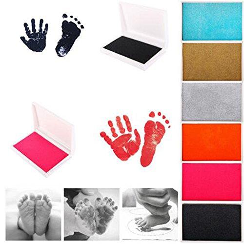 New Born Stempelkissen Inkless Touch Fu/ßabdruck Handabdruck Pad Cherish Babys Erinnerungen Rosig