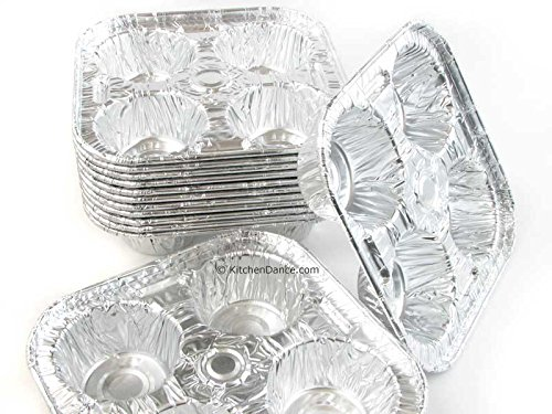 Disposable Aluminum 4 Cup Extra Large Cup Muffin Tray #1588 (300)