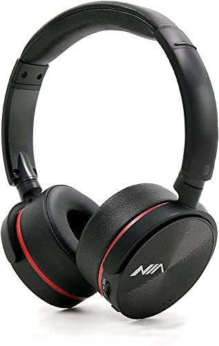NIA Q6 High Definition FM Radio MicroSD TF Card Mp3 Player Bluetooth Wireless On-Ear Headphones with iOS Andriod App