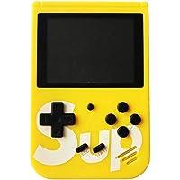 جهازالعاب الكترونية للاطفال، يحتوي على 400 لعبة مدمجة، مشغل العاب ريترو مع شاشة LCD (8 بت) 2.8 بوصة. لون أصفر
