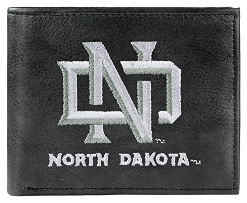 NCAA North Dakota Fighting Sioux Embroidered Genuine Leather Billfold Wallet