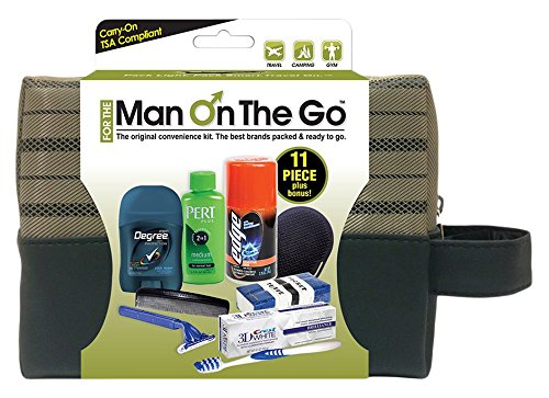 Convenience Kits Man On the Go Premium 11-piece Travel Kit