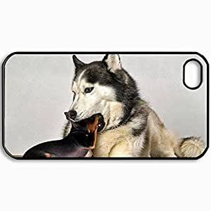 Customized Cellphone Case Back Cover For iPhone 4 4S, Protective Hardshell Case Personalized Dentist Black