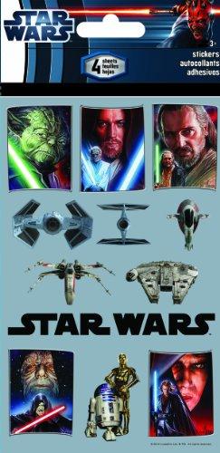 Sandylion Star Wars The Saga Standard Stickers, 4-Sheet ()