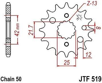 Compatible avec 1000 TLS-TLR-SV-1300 HAYABUSA-PIGNON 16 DENTS ACIER-JTF519.16