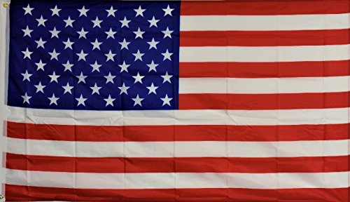 5' 3' Garden (USA Patriotic 50 Star America American Flag 3' x 5' House Banner Grommets Double Stitched Fade Resistant Premium Quality)