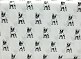 Whimsical Hotel Collection French Bulldog 3 Piece Twin Microfiber Sheet Set
