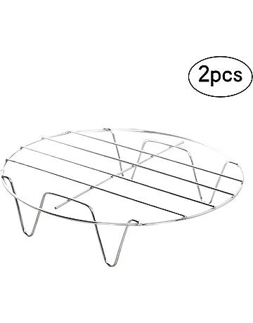BESTONZON 2pcs Rejilla de Vapor de Acero Inoxidable Soporte de Vapor de Ollas de Cocina