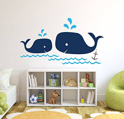 Whale-Family-Nautical-Mom-and-Baby-Wall-Decal-Nursery-Wall-Decals-Nautical-Nursery-Decor-Vinyl-Sticker