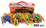 toy building sets - LARGE 800 Piece Straws Builders Construction Building Toy - Giant Pack with Special Connectors by Playlearn