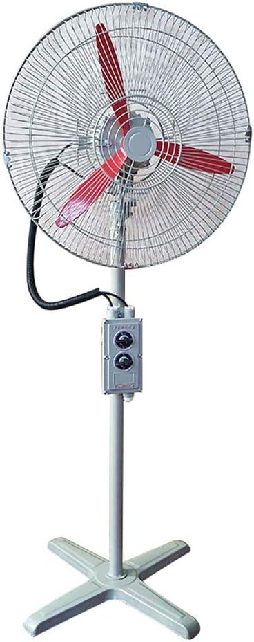 JF Ventilador De Pedestal, Ventilador De Pie De 20 Pulgadas, Cabezal Basculante Y Potente Flujo De Aire, para Uso Industrial, Comercial, Residencial, De Invernadero