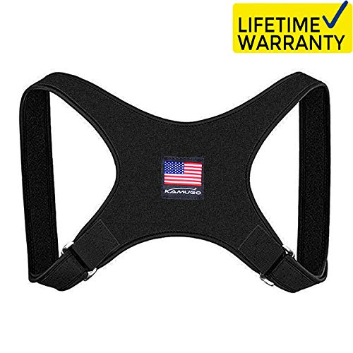 Posture Corrector for Men and Women, Adjustable Upper Back Brace Clavicle Support Brace, Providing Pain Relief from Neck, Back and Shoulder