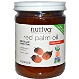 Nutiva Organic Red Palm Oil 15 oz (Pack of 2)