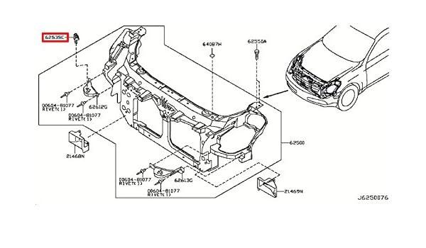 Amazon Com Infiniti Genuine Front Apron Radiator Core Support