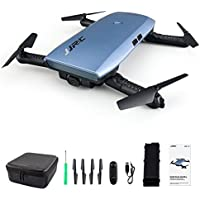 Beyondsky JJRC H47 Elfie WIFI Foldable Pocket FPV Drone Mini Quadcopter with 720P (Blue standard package)