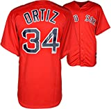 David Ortiz Boston Red Sox Autographed Majestic Replica Red Jersey - Fanatics Authentic Certified - Autographed MLB Jerseys