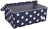 Minene Large Storage Box with Lid Blue Star - star storage box, large fabric storage box - great for toy storage, kids storage by Minene