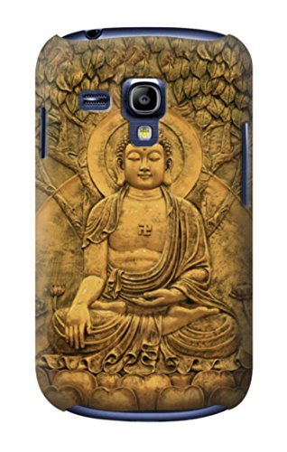 R2452 Buddha Bas Relief Art Graphic Printed Case Cover For Samsung Galaxy S3 mini