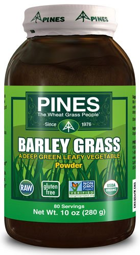 (Pines International Organic Barley Grass Powder -- 10 oz - 2PC)