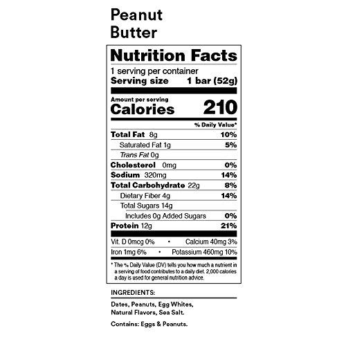 RXBAR Whole Food Protein Bar, Peanut Butter, 1.83 Ounce (Pack of 24) by RXBAR (Image #7)