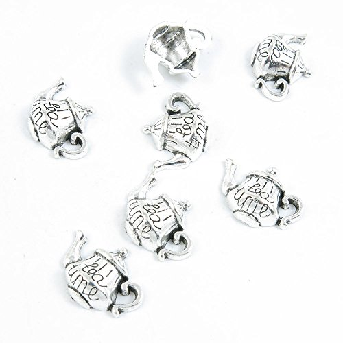 - Price per 40 Pieces Antique Silver Tone Jewelry Making Charms Supply W9LU4 Teapot Tea Kettle Pot
