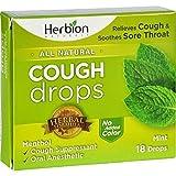 Herbion Naturals Cough Drops - All Natural - Mint - 18 Drops by Herbion Naturals