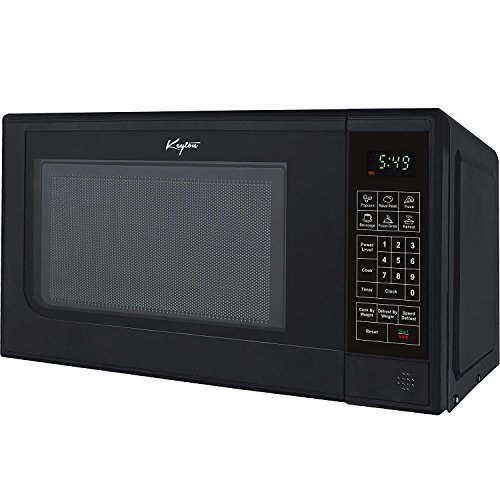 Keyton Microwave Oven - 6 Instant Cooking Settings & 10 Power Levels With A Digital Display, Built In Clock & Child Safety Lock, UL Approved - 0.7 Cubic Feet, Black